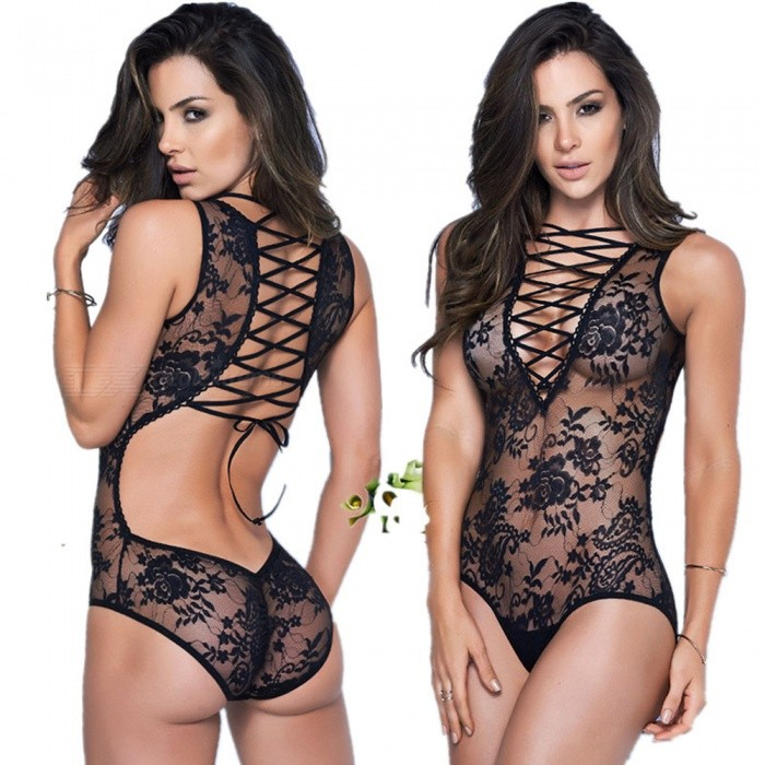 Lace-Up sexy Lace-Up Sexy Lingerie - Negro