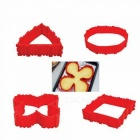 Magic DIY Tools Non-stick Silicone Cake Bake Molds - Red (4pcs)
