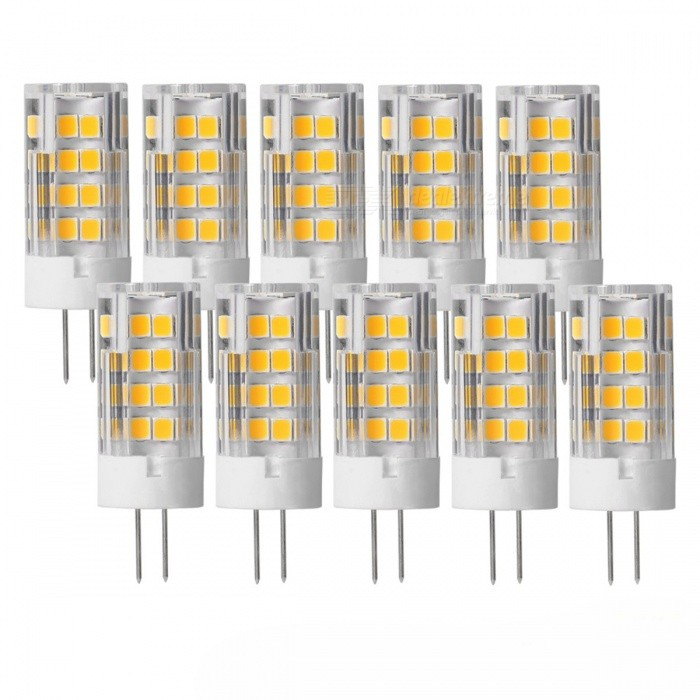 JRLED G4 5W 51-SMD2835 LED Warm White Light Lamps (10 PCS)