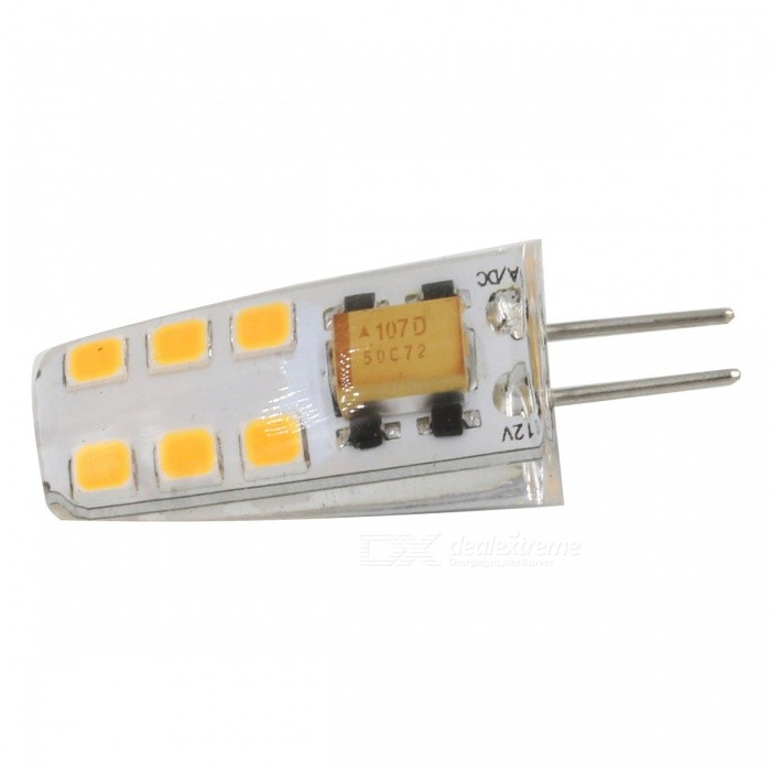 G4 2.5W 260lm 12-SMD 2835 LED Warm White Light Bulb (AC DC12V)