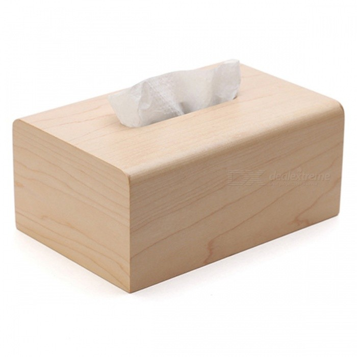 Wooden Paper Holder Box - Brown