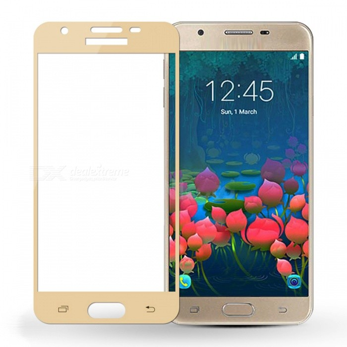 Naxtop Tempered Glass Screen Protector for Samsung Galaxy J3 (2017)Screen Protectors<br>Form  ColorGolden (1Pc) Screen TypeGlossyModelN/AMaterialTempered GlassQuantity1 pieceCompatible ModelsSamsung Galaxy J3 (2017)Features2.5D,Fingerprint-proof,Scratch-proof,Tempered glassPacking List1 x Tempered glass film1 x Wet wipe1 x Dry wipe1 x Dust sticker<br>