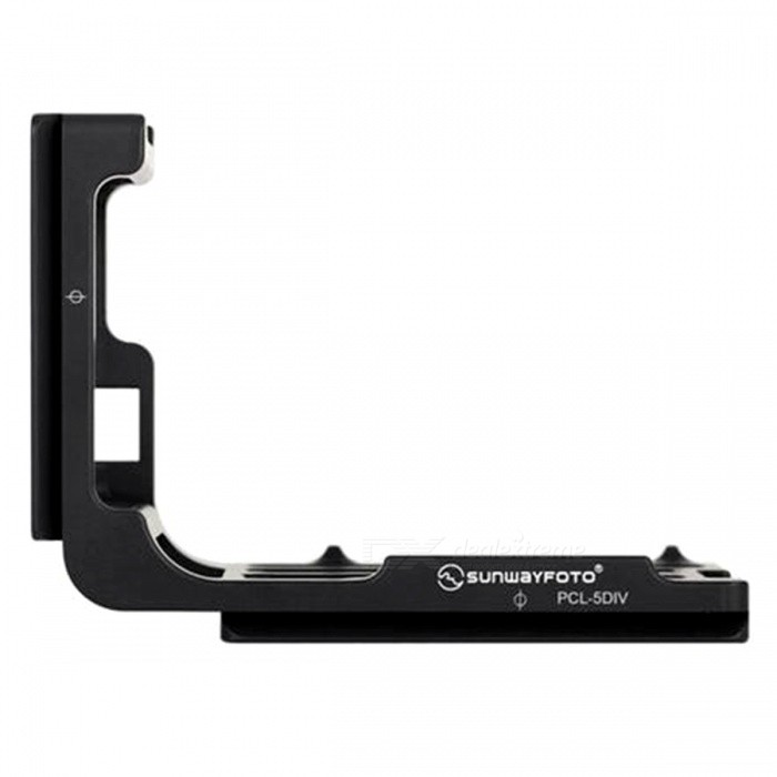 SUNWAYFOTO PCL-5DIV Custom L Plate Bracket for Canon 5DIV 5D4 5D3Tripods and Holders<br>Form  ColorBlackModelPCL-5DIVMaterialAluminumQuantity1 pieceShade Of ColorBlackTypeTripodRetractableNoMax.Load1 kgPacking List1 x PCL-5DIV L Plate Bracket<br>