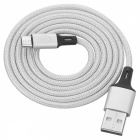 BTY W817 Micro USB Braided High-Speed Data Charging Cable - White (1m)
