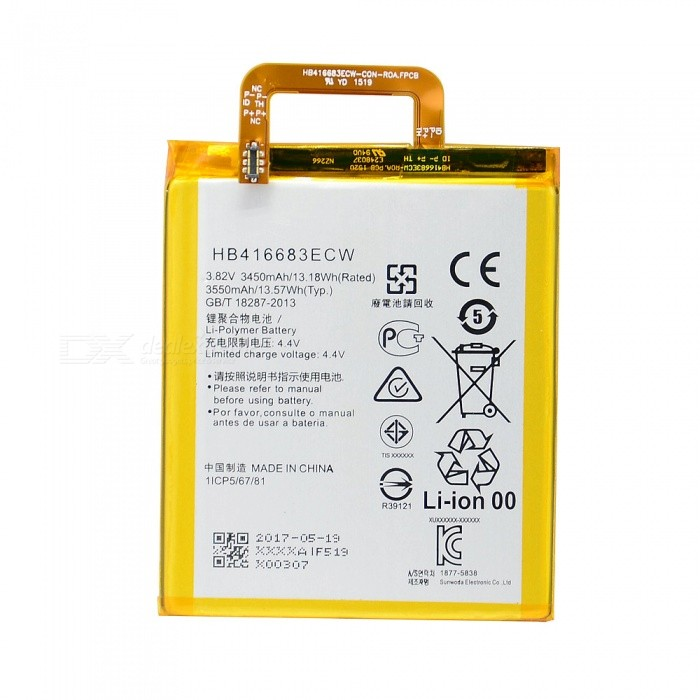 Replacement 3.82V 3450mAh Smartphone Battery for Google Nexus 6P