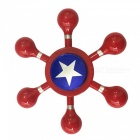 Dayspirit Captain America Shape Finger Stress Relief Gyro Rotator Toy