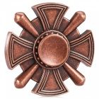 Alliage de zinc à quatre lames classique ADHD Fidget Spinner Funny Stress Reliever Relaxation Gift - Red Copper