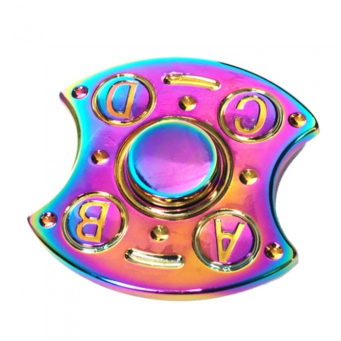 OJADE ABCD Letter Metal Hand Fidget Spinner Gyro EDC Toy - Colorful
