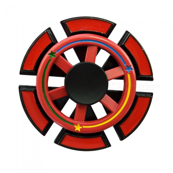 Dayspirit Red Steering Wheel Shape Finger Stress Relief Gyro Toy