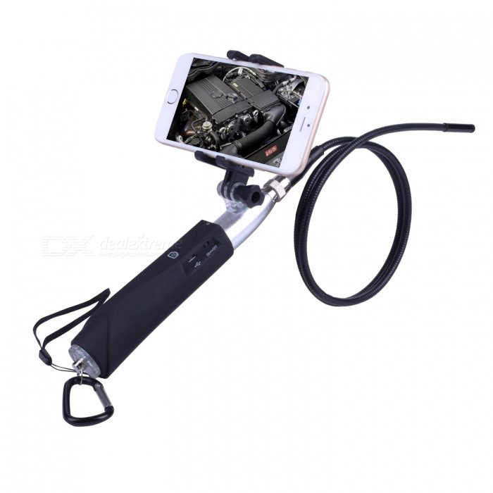 BLCR 8mm 6-LED Waterproof Handheld Wi-Fi Endoscope - SilverMicroscopes &amp; Endoscope<br>Snake Cable LengthSilver(1M)ModelN/AQuantity1 setForm  ColorSilverMaterialMetal + PlasticCamera Pixels2.0MPCompatible OSIOS / Android / WindowsCamera head outer diameter8mmLED Bulb Qty6Packing List1 x WIFI Tube Endoscope 1 x WIFI handle 1 x Small hook 1 x Magnet 1 x Side mirror1 x USB cable 1 x Portable hook 1 x User manual<br>
