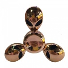 OJADE Skull Shaped Hand Spinner Fidget Fingertip Gyro Toy - Golden