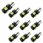 2W 200lm Cold White 5SMD 5050 LED Car Backup Lampe DC 12V 10PCS