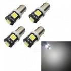 BAX9S H6W 1W Cold White 5SMD 5050 LED Car Instrument Lamps (4PCS)