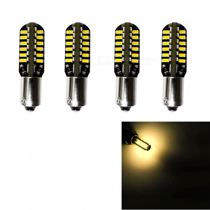 HONSCO T4W BA9S-48SMD-3014 3W Warm White LED Wide Light (4PCS / DC12V)