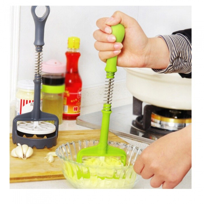 Multifunction Automatic Push Mashed Potatoes Masher - Random Color