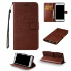 BLCR Elephant Pattern PU TPU Wallet Case for IPHONE 7 Plus - Brown