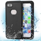 Detachable Dual Use Waterproof Anti Fall Mobile Phones Shell - Black
