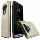Protective Wire Drawing PC, TPU Back Case for LG G5 - Golden