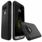 Protective Wire Drawing PC, TPU Back Case for LG G5 - Black