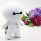 ZHAOYAO Cartoon Robot Style Portable Bluetooth Speaker - White