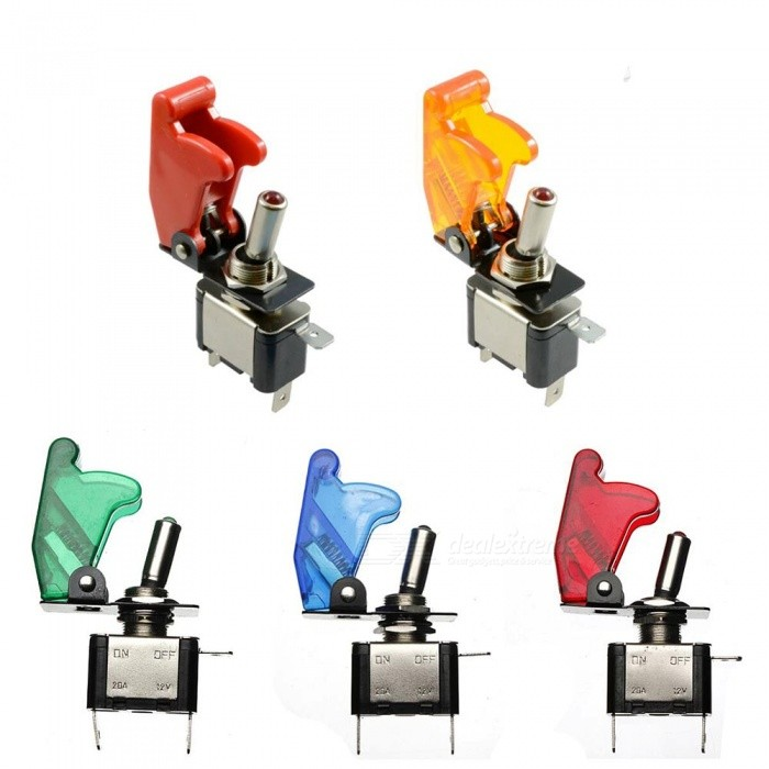 ON / OFF LED Light Rocker Toggle Switches for Car Truck (5 PCS)