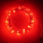 SZFC USB 5V 10m Waterproof Aluminum Red Light String - Silver