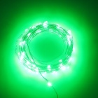 SZFC USB 5V 10m Waterproof Aluminum Green Light String - Silver