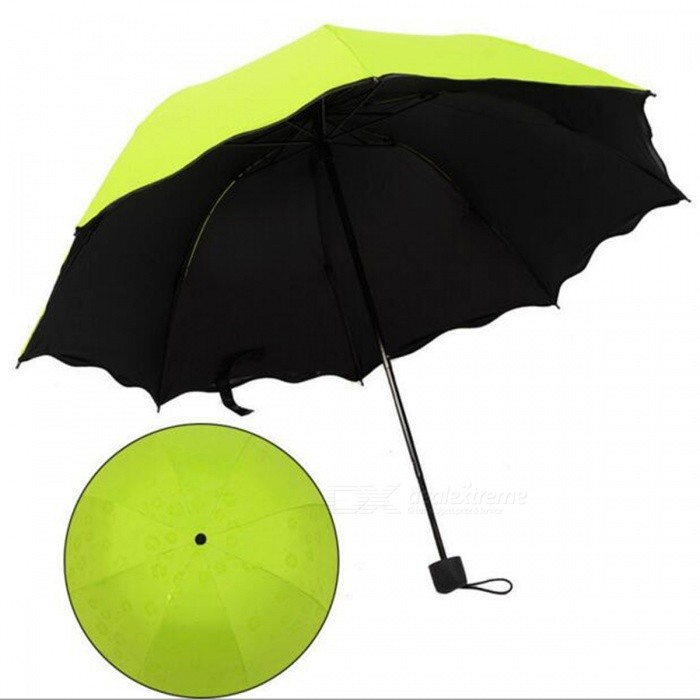 folding manual sun rain anti uv umbrella parasol green free shipping dealextreme. Black Bedroom Furniture Sets. Home Design Ideas