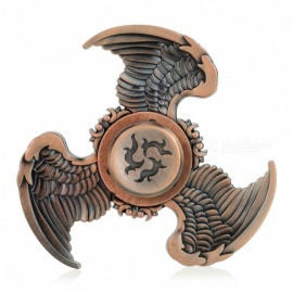 BLCR Tri-Wing Style Fidget Relief Toy EDC Finger Spinner - Brown