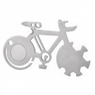 Outdoor Universal Bicycle Style Camping Multifunction Tool - Silver