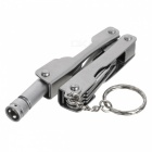 Multi-functional Stainless Steel Folding Plier Keychain with Light