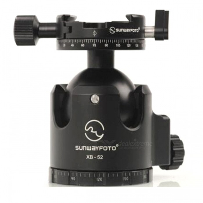 SUNWAYFOTO XB-52DDHI Low-Profile Tripod Head for DSLR Camera - BlackTripods and Holders<br>Form  ColorBlackModelXB-52DDHiMaterialAluminiumQuantity1 setShade Of ColorBlackTypeTripodRetractableNoMax.Load40 kgPacking List1 x XB-52DDHi Low-Profile Tripod head<br>