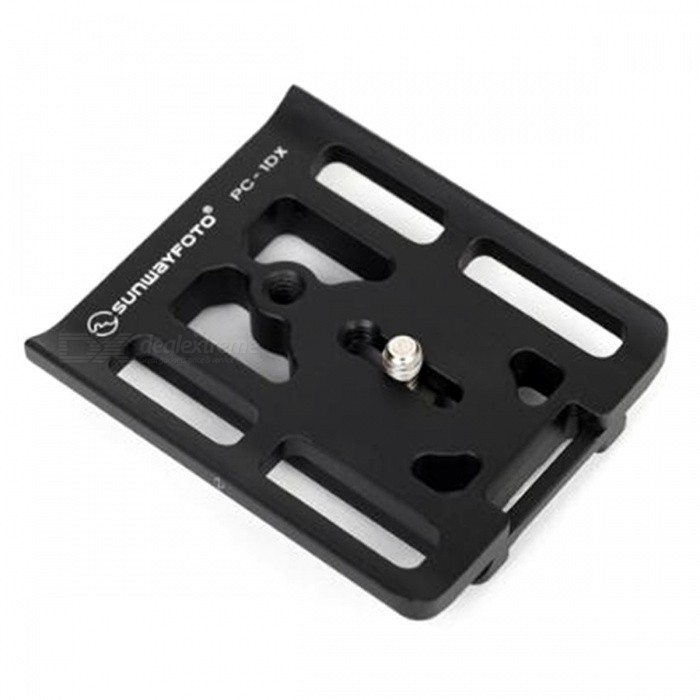 SUNWAYFOTO PC-1DX Tripod Head Quick Release Plate - Black