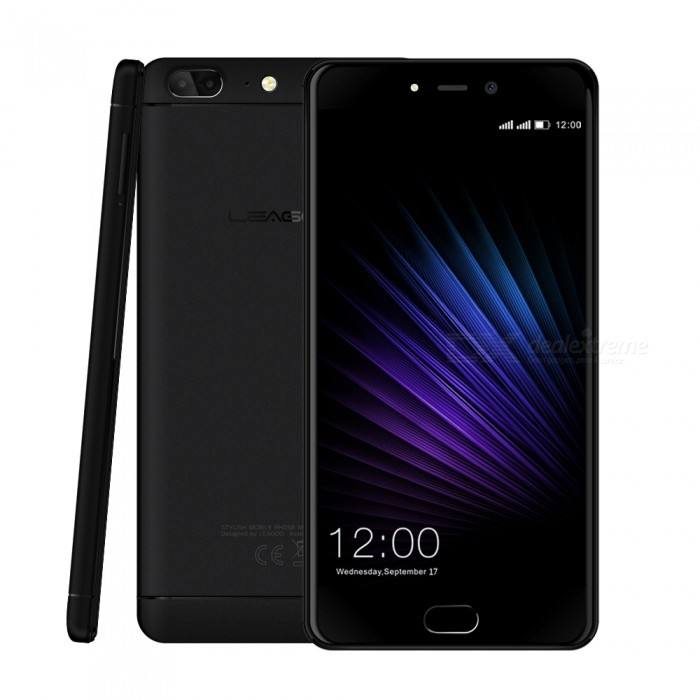 LEAGOO T5 Android 7.0 Smartphone with 4GB RAM 64GB ROM - Black