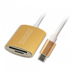 KELIMA USB 3.0 High-Speed Type-C SD, TF Card Reader - Golden