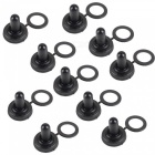 Waterproof 12mm Toggle Switch Cap Cover Rubber Boots - Black (10pcs)