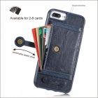 BLCR PU Leather Case with Card Slots for IPHONE 7 Plus - Deep Blue
