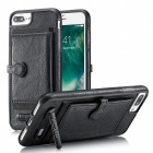 BLCR PU Leather Case with Card Slots for IPHONE 7 Plus - Black