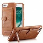BLCR PU Leather Case with Card Slots for IPHONE 7 Plus - Brown