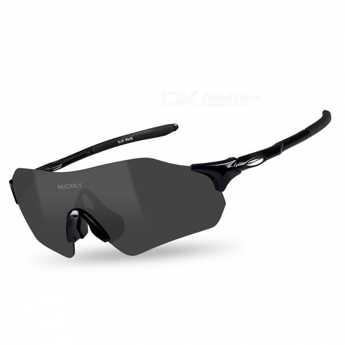 NUCKILY PA08 Utomhus Riding Antisvind Sand-Proof Glasses - Black