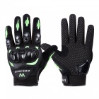 WOSAWE BST-015 Motorcycle Full-Finger Gloves - Green, Black (L)