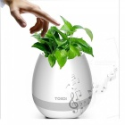 Innovativ Plant Flower Pot Shape Bluetooth Music Högtalare - Vit