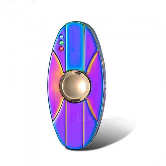 ZHAOYAO USB LED Double-sided Metal Fingertip Gyro Lighter - Colorful