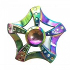 OJADE 5-Blade Rainbow Flowers Spinner EDC Finger Toy - Colorful