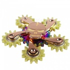 OJADE Five Gears Ghost Hand Spinner Fidget Gyro EDC Toy - Golden