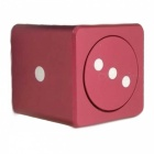 ZHAOYAO Zinc Alloy Dice Style Spinning Gyro Toy - Red