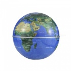 C Shape Magnetic Floating World Map Globe Rotating LED Light - Blue