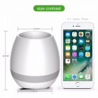 Creatvie Flowerpot Shape Bluetooth Speaker - White
