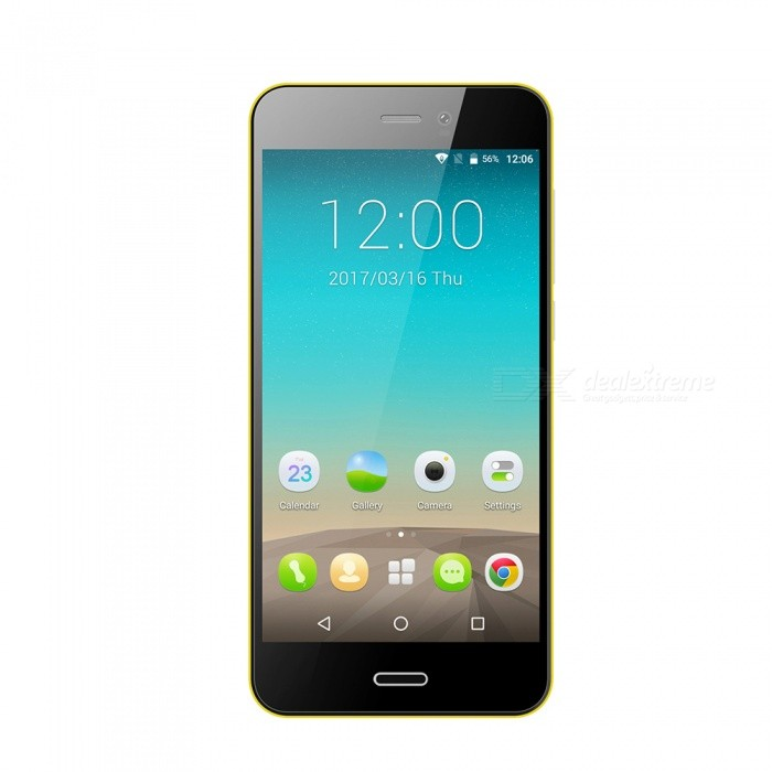 Gretel A7 Android 6.0 Smartphone with 1GB RAM, 16GB ROM - Yellow