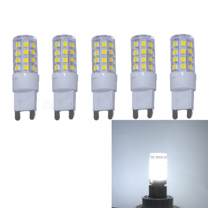 JRLED G9 3W 2835 35-LED Cold White No Strobe LED-lampor (5 PCS)